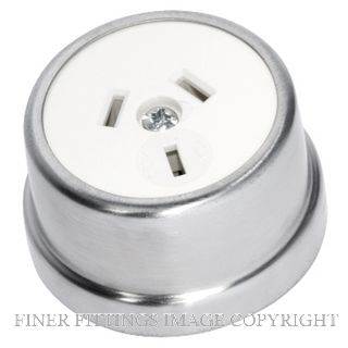 TRADCO 5525 TRADITIONAL SOCKET SATIN CHROME-WHITE