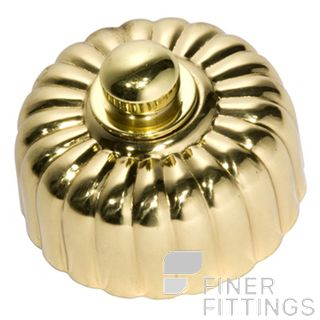 TRADCO 5483 FLUTED DIMMERS POLISHED BRASS