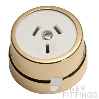 TRADCO 5480 TRADITIONAL SOCKET POLISHED BRASS-WHITE