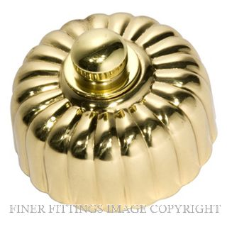 TRADCO 5487 FLUTED FAN CONTROLLER POLISHED BRASS