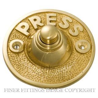 TRADCO 5503 BELL PUSH PRESS 63MM POLISHED BRASS