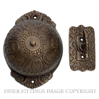 TRADCO 5507 TURN BELL -FANCY ANTIQUE BRASS