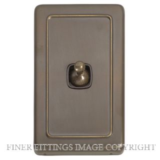 TRADCO 5892 SWITCH TOGGLE 1 GANG ANTIQUE BRASS-BROWN