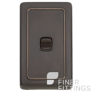 TRADCO 5812 SWITCH ROCKER 1 GANG ANTIQUE COPPER-BROWN