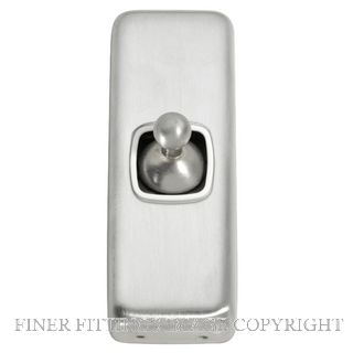 TRADCO 5970 SWITCH TOGGLE 1 GANG SATIN CHROME-WHITE