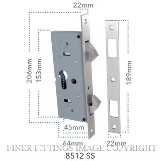 TRADCO TR8512 SINGLE DOOR SLIDING LOCK