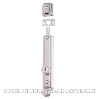 TRADCO 8762 SURFACE BOLT KEY OPERATED SATIN NICKEL