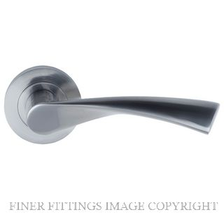WINDSOR 9030 - 9054 HELIX LEVER ON ROSE BRUSHED NICKEL
