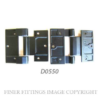 FFHD0550 HINGE - ALTHERM & VANTAGE 90MM ALU DOOR BLACK