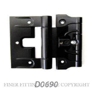 FFHD0690 HINGE - APL ADJUSTABLE TIMBER DOOR HINGE BLACK