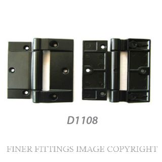 FFHD1108 HINGE - FLETCHER105MM - ALU DOOR BLACK