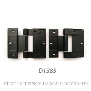 FFHD1385 HINGE - FAIRVIEW 90MM ALU & TIM DOOR BLACK