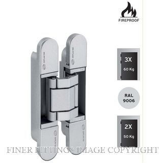 JNF JNIN05061 3D AJUSTABLE INVISIBLE HINGE COPLAN IN.05.061 SATIN STAINLESS