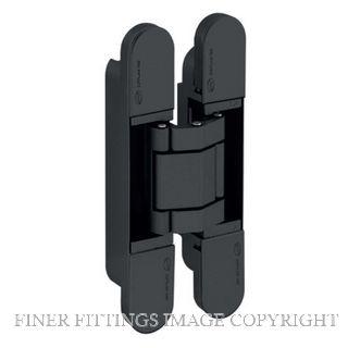 JNF JNIN05061B 3D AJUSTABLE INVISIBLE HINGE COPLAN IN.05.061 MATT BLACK