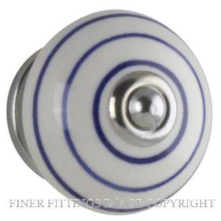 TRADCO 7609 SWIRL KNOB BLUE/WHITE 40MM