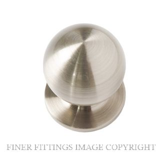 MILES NELSON 1179 KNOB CAB HANDLE 22MM DIA BRUSHED NICKEL