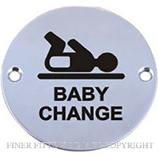 MILES NELSON 503PPTBC SIGN BABY CHANGE STAINLESS STEEL
