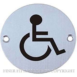 MILES NELSON 503PPTDIS SIGN DISABLED STAINLESS STEEL