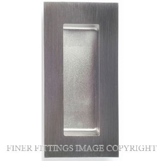 MILES NELSON 733 FLUSH PULL 100 X 52MM SQUARE CF STAINLESS STEEL