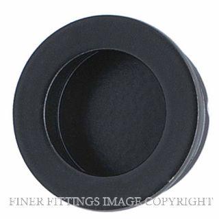 MILES NELSON MN744PB30 FLUSH PULL HANDLE ROUND 30MM MATT BLACK