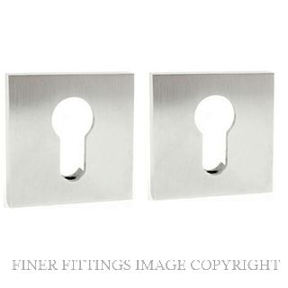 MILES NELSON 780 EURO SQUARE ESCUTCHEON  STAINLESS STEEL