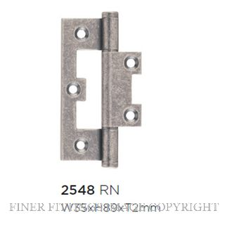 TRADCO HINGE - HIRLINE RUMBLED NICKEL 89X35MM