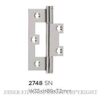 TRADCO HINGE - HIRLINE SATIN NICKEL 89X35MM