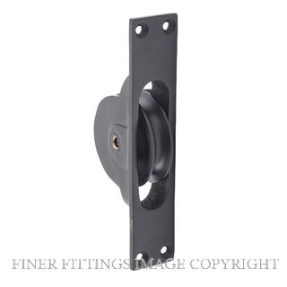 TRADCO 1684 SASH PULLEY MATT BLACK 25X125MM