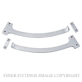 TRADCO 9753 FANLIGHT STOP CHROME PLATE (PAIR)