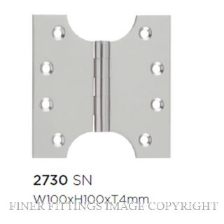 TRADCO HINGE PARLIAMENT SATIN NICKEL