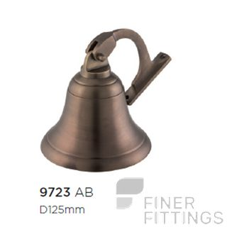 TRADCO 9723 SHIPS BELL ANTIQUE BRASS
