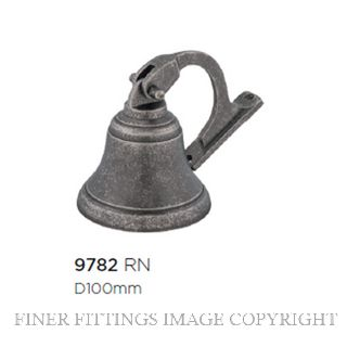 TRADCO 9782 SHIPS BELL RUMBLED NICKEL 100MM