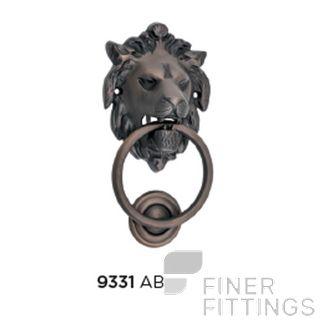 TRADCO 9331 LION DOOR KNOCKER ANTIQUE BRASS