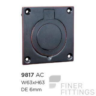 TRADCO 9817 CELLAR DOOR PULL ANTIQUE COPPER 63X63MM