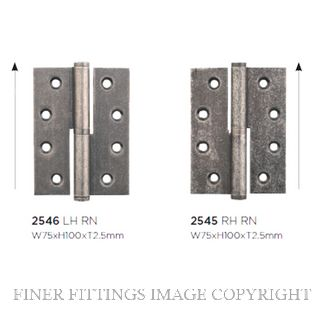 TRADCO 2545 - 2546 LIFT OFF HINGES RUMBLED NICKEL