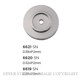 TRADCO 6619 - 6621 CABINET KNOB BACKPLATES POLISHED NICKEL