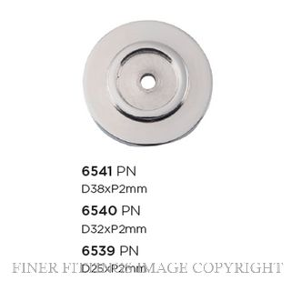 TRADCO 6539 - 6541 CABINET KNOB BACKPLATES POLISHED NICKEL