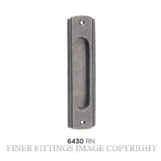 TRADCO 6430 SLIDING DOOR PULL RUMBLED NICKEL 43X150MM