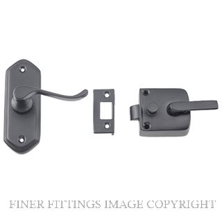TRADCO 9637 SCREEN DOOR LATCH MATT BLACK R/H
