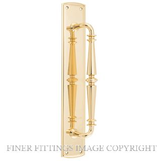 TRADCO 9340 SARLAT PULL HANDLE 380X65MM POLISHED BRASS