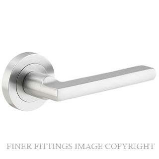 TRADCO 9215 BALTIMORE LEVER ON ROSE SATIN CHROME