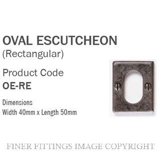TASMAN FORGE TF ESC OVAL RECTANGULAR CYLINDER ESCUTCHEON