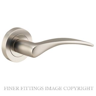 TRADCO 9229 OXFORD LEVER ON ROSE SATIN NICKEL