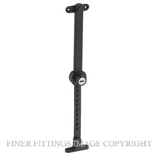 TRADCO 9639 LOCKING TELESCOPIC STAY SS-MATT BLACK