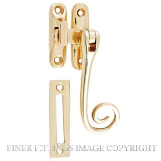 TRADCO 9811 CASEMENT FASTENER M/TAIL POLISHED BRASS 105MM