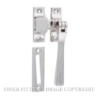 TRADCO 6504 CASEMENT FASTENER - SQUARE POLISHED NICKEL