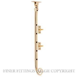 TRADCO 9823 CASEMENT STAY M/TAIL POLISHED BRASS 300MM