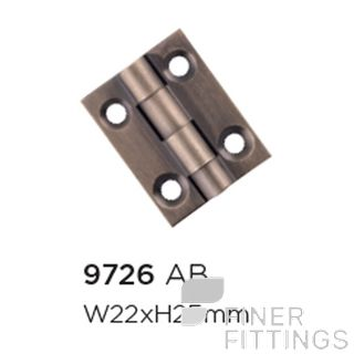 TRADCO 9726 - 9730 CABINET HINGES ANTIQUE BRASS