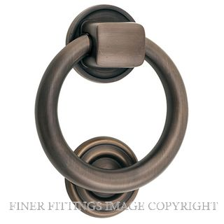 TRADCO 9321 DOOR KNOCKER-RING 100MM ANTIQUE BRASS