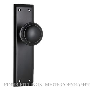 TRADCO MILTON 6450 KNOB ON LONG PLATE MATT BLACK